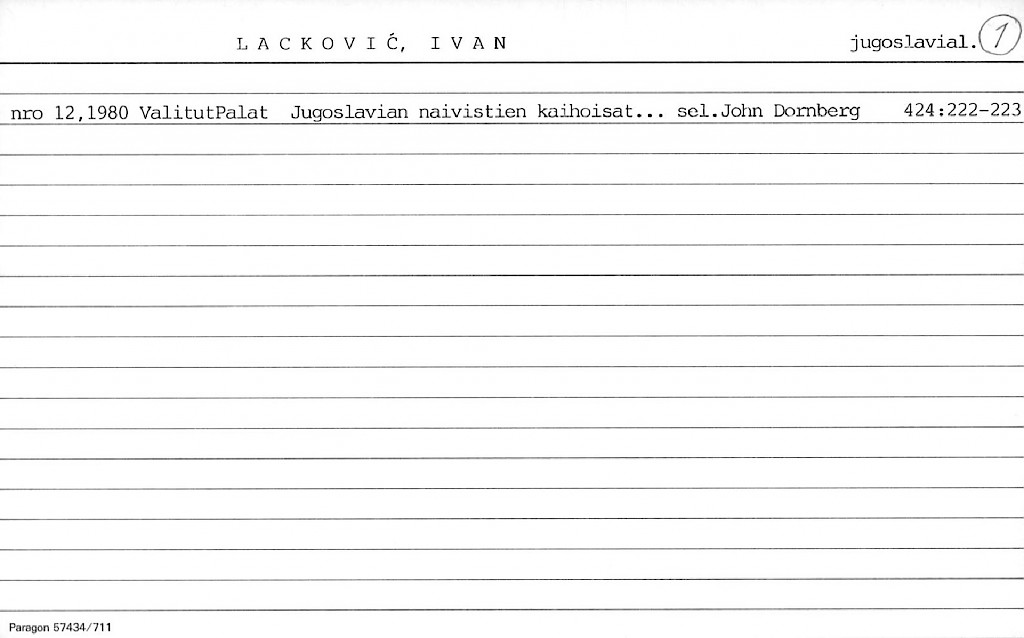 Lackovic, Ivan