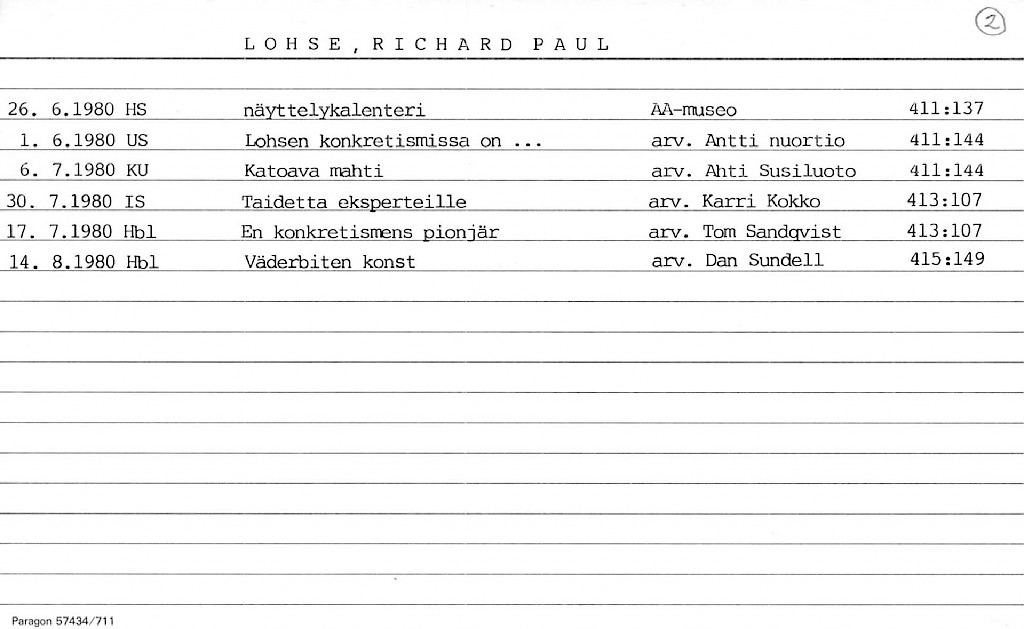 Lohse, Richard Paul