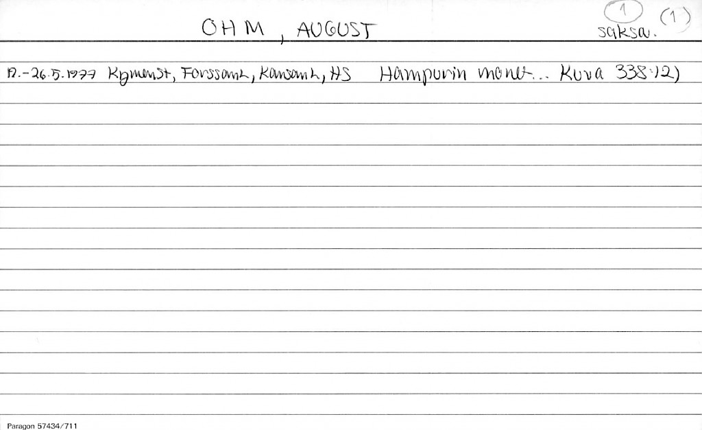 Ohm, August