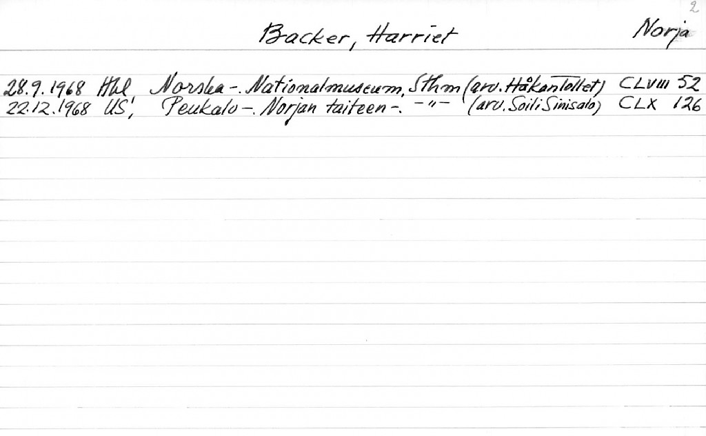 Backer, Harriet