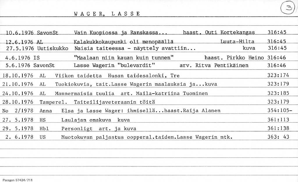 Wager, Lasse