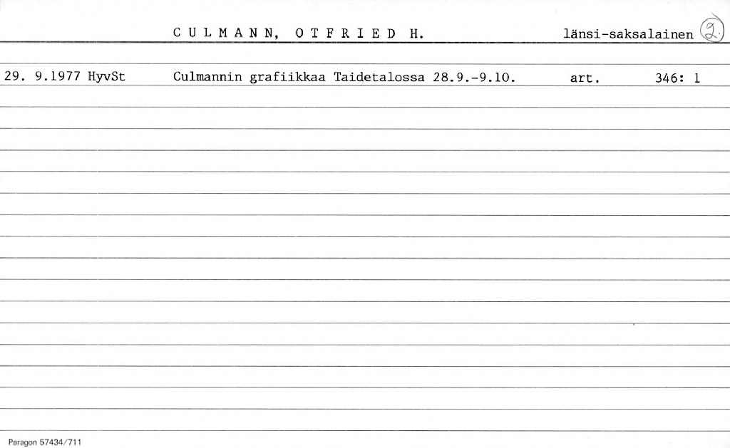 Culmann, Otfried H.