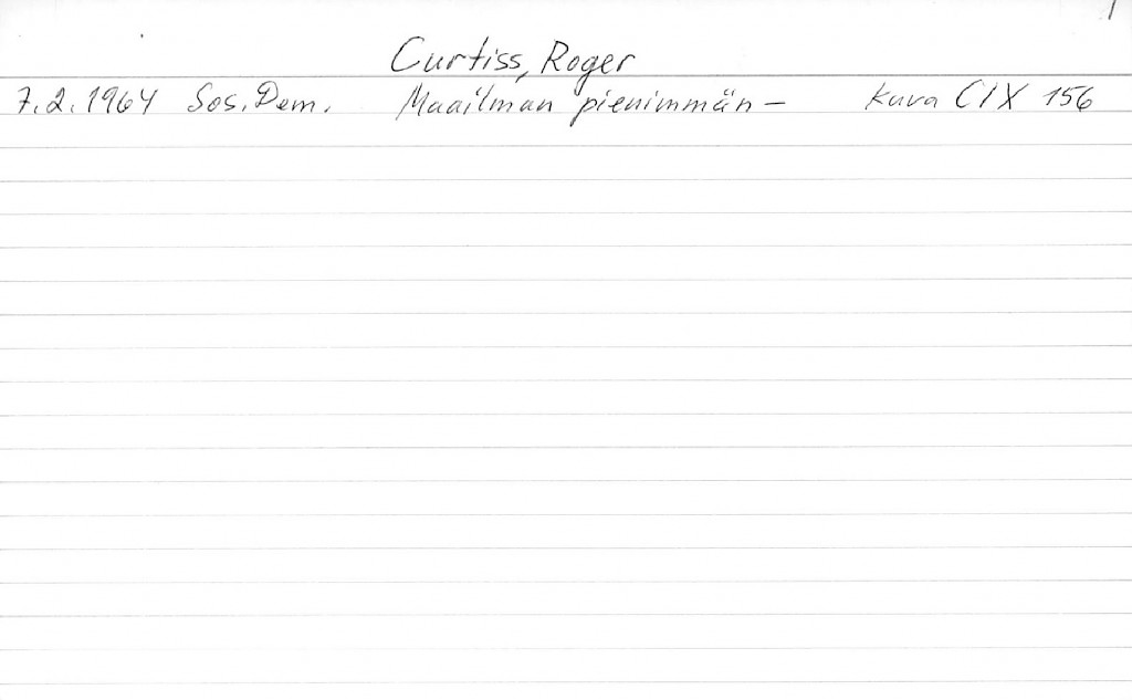 Curtiss, Roger