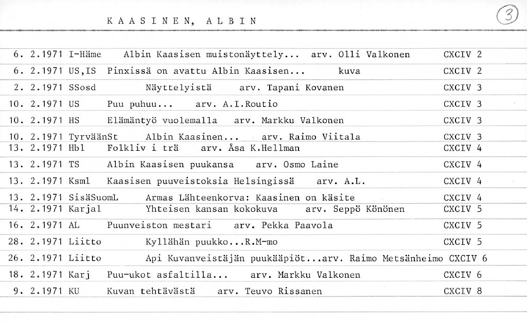 Kaasinen, Albin